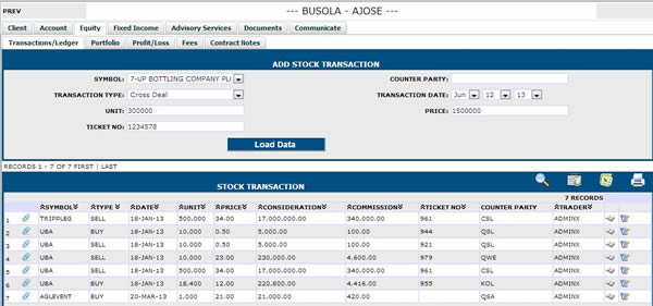STOCK TRANSACTION DETAIL
