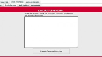 HOW TO USE THE BARCODE GENERATOR SYSTEM